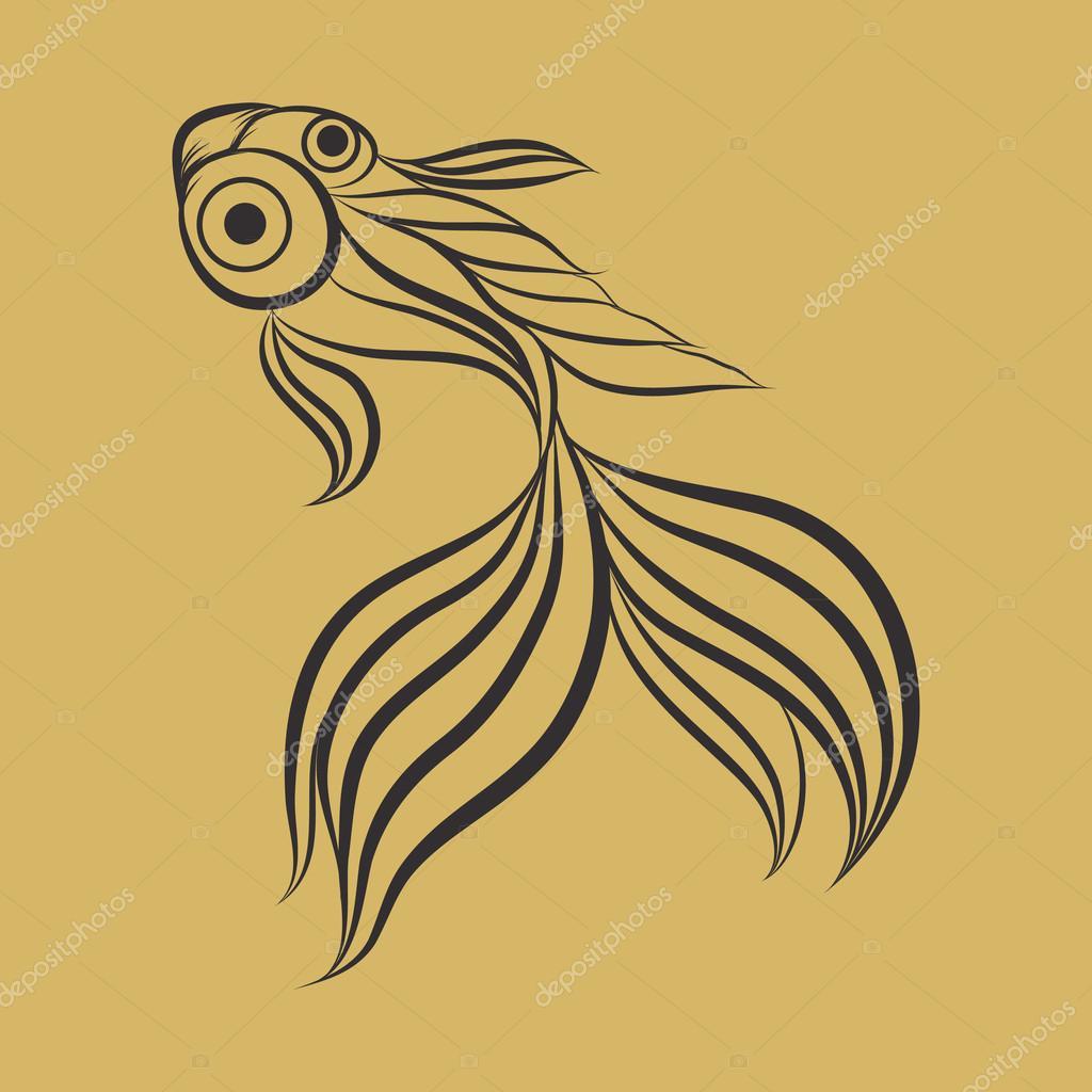 goldfish logo vector stock vector copy ilovecoffeedesign  goldfish logo vector stock vector 108746412
