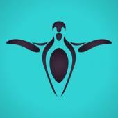 Vektorové logo tučňák — Stock vektor