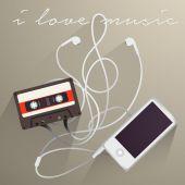 Musica di sottofondo, amo Musi — Vettoriale Stock