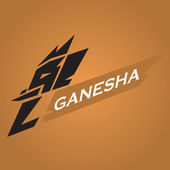 Ganesha-vektor — Stockvektor