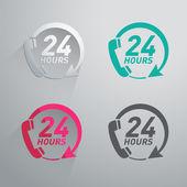 Twenty four hours icon — Stock Vector