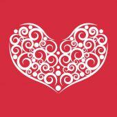 Heart abstract vector logo design template. — Stock Vector