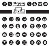 Web icons for e-commerce, shopping — Stockvektor