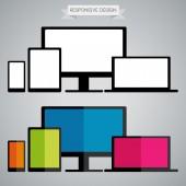 Responsive Design in electronic device — Stockvektor
