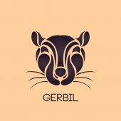 GERBIL logo vector — Stock Vector
