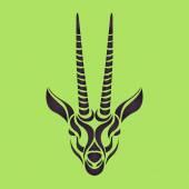 Gazelle logo vector — Stock Vector