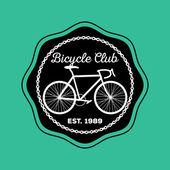 Bicycle Club logo — Stock Vector