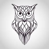 Owl logo — Stock Vector
