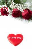 Kalpli gül buketi — Stok fotoğraf
