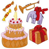 Birthday party — Cтоковый вектор