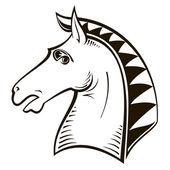 Testa di cavallo — Vettoriale Stock