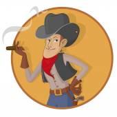 Old West Gunslinger — Stockvektor