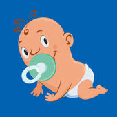 Crawling baby — Stock Vector