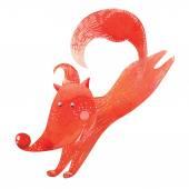 Ilustración del funcionamiento de fox — Vector de stock