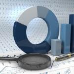 Graphs of financial analysis — Stock Photo #52333281