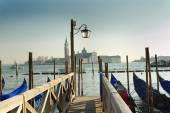 Venice, italy, italian, summer, sunny day, Piazza San Marco, gondola, gondolas — Stock Photo