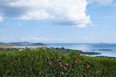 Красивые летние вид море пляж гора Italia — Стоковое фото