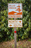 Blue Ridge Parkway Sign — Stock Photo