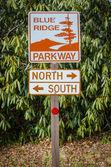 Blue Ridge Parkway Sign — Stock Photo