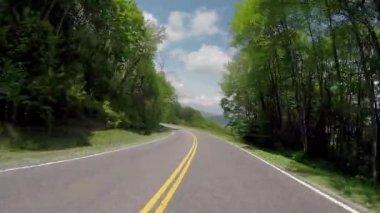 Smokies Empty Mountain Road — Stock Video