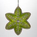 Christmas Ornament Green Cloth Star — Stock Photo #54193873