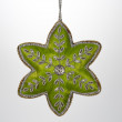 Christmas Ornament Green Cloth Star — Stock Photo #54193873