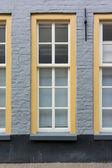 Tall Window on Sidewalk — Zdjęcie stockowe