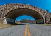 Stone Bridge over the Blue Ridge Parkway — Stock Photo