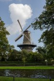 Windmill on Sunny Day in Leiden — Stok fotoğraf