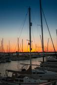 Sunset over Charleston Harbor Marina — Foto de Stock