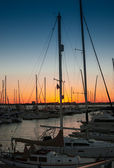 Sunset over Charleston Harbor Marina — Photo