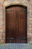 Wooden Door at Nieuwe Kerk — Stock Photo