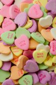 Candy Hearts Vertical — Stock Photo