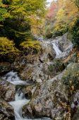Long Exposure of Waterfall of rocks in fall — Stock Photo