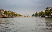 Drawbridge on Amstel River — Foto Stock