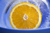 Orange in the ice p1 — Stock Photo