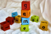 Kids blocks game — Stock Photo