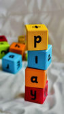 Kids blocks play — Stock Photo