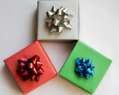 Small colorful presents — Stock Photo