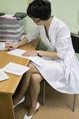Läkare skriver — Stockfoto