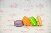 Bright colorful macaroons — Stock Photo