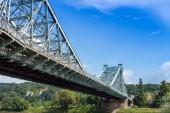 Blue Wonder Bridge Dresden — Stock Photo