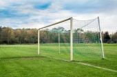 Пустой футбол цель — Стоковое фото