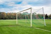 Leere Fußballtor — Stockfoto