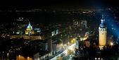 Leipzig at Night — Stock Photo