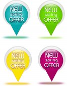Offer buttons — Stock Photo