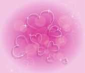 Pink hearts dream — Foto Stock