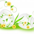 Easter eggs with floral ornaments — Stock Photo #52173283