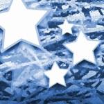 Blue star mosaic — Stock Photo #52173729