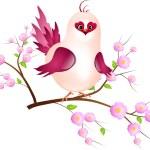 Pink bird on twig — Stock Photo #52402015